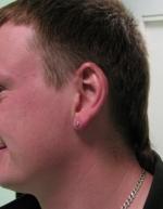 мужской пирсинг мочки уха