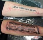 Стилизовали татуировку.