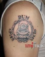 Татуировка водолазного значка.
