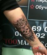 Стильная татуировка совы