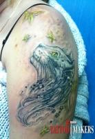 татуировка кошки - кавер-ап