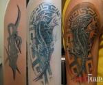 Полное перекрытие старой татуировки.