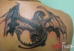 Перекрытие иероглифов крылом дракона.