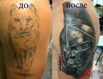 Полная забивка старой татуировки