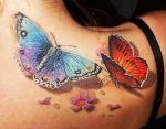 Реалистичные тату бабочки