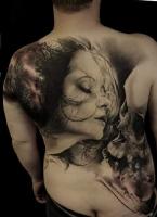 Красивая татуировка на всю спину